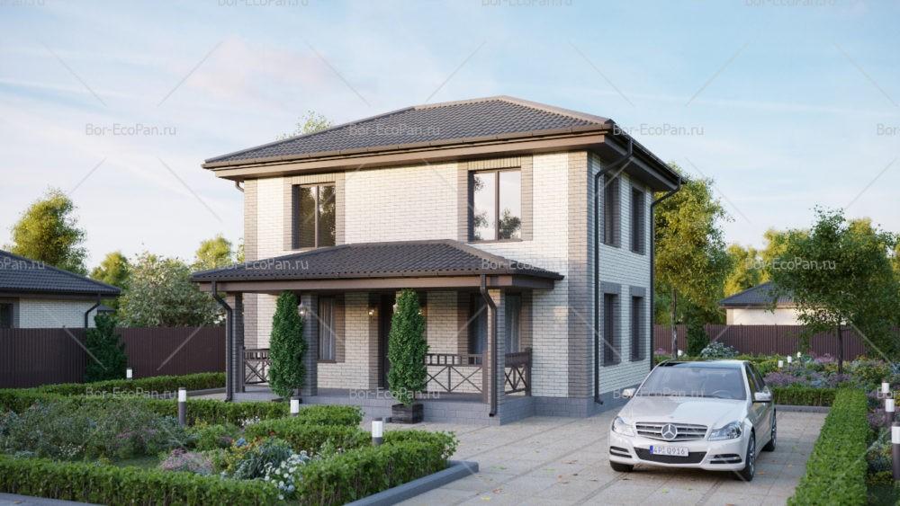 дом 6х9 3 спальни до 90 м2 по проекту КУНЗИТ