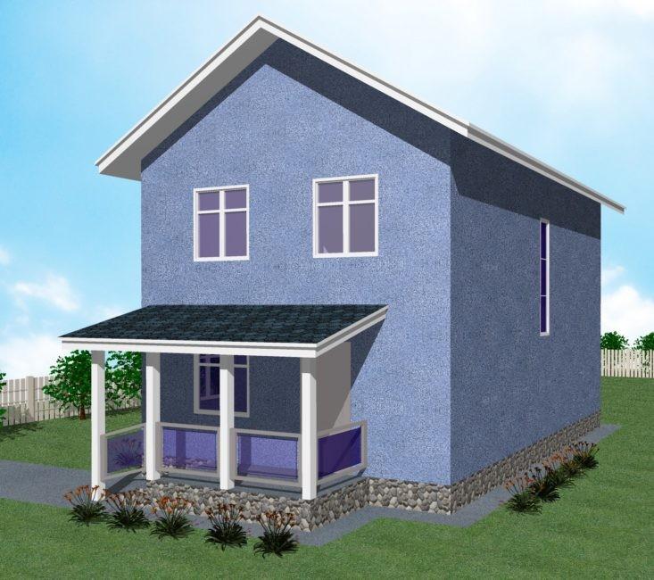 2-этажный дом 6х9 4 спальни до 100 м2 по проекту АПАТИТ