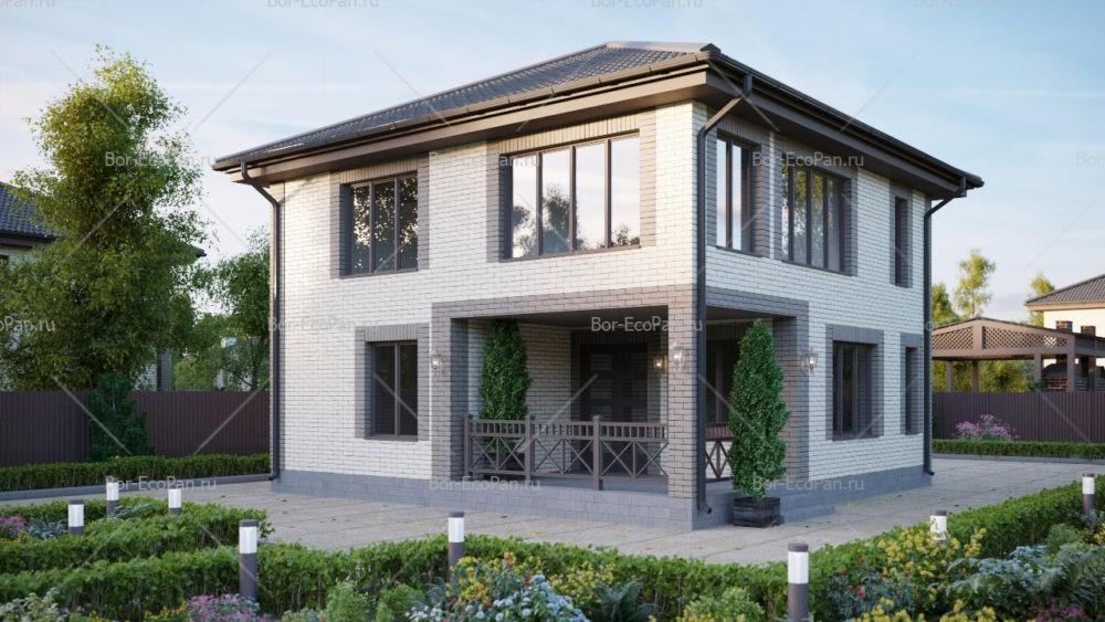 2-этажный дом 9x9 3 спальни до 130 м2 по проекту ЦИАНИТ