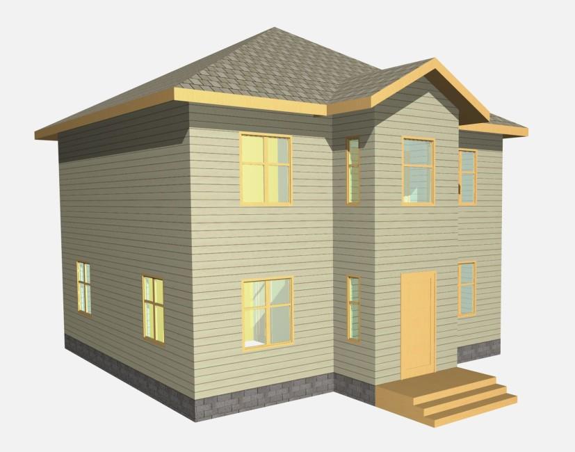 2-этажный дом 9x9 3 спальни до 160 м2 по проекту ОПАЛ