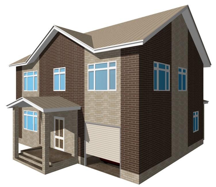 2-этажный дом 10x11 4 спальни до 210 м2 по проекту ГРАНАТ