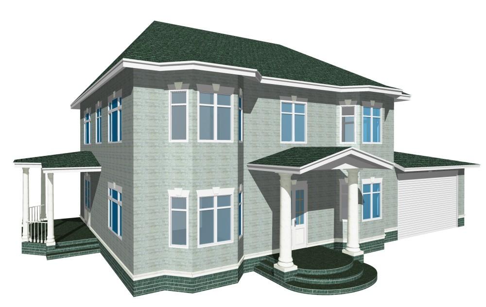 2-этажный дом 10х17 4 спальни до 340 м2 по проекту ХРИЗОЛИТ